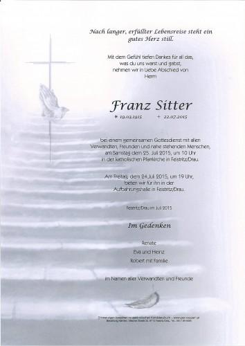 Sitter Franz