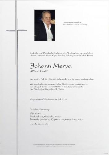 "Johann Merva ""Würstl Poldi"""