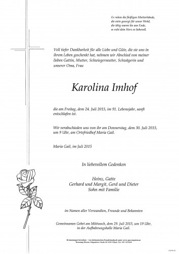 Karolina Imhof