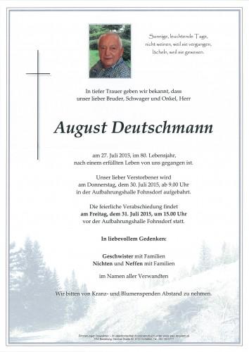 August Deutschmann
