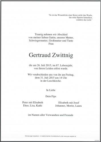 Gertraud Zwittnig