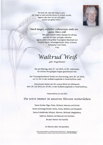 Waltrud Weiß, geb. Engelmaier