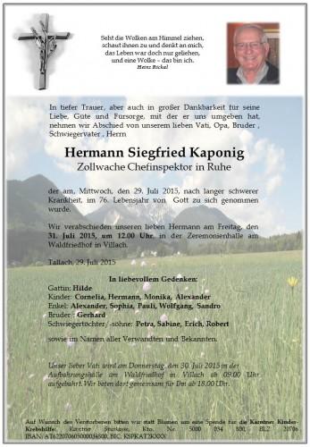 Hermann Siegfried Kaponig