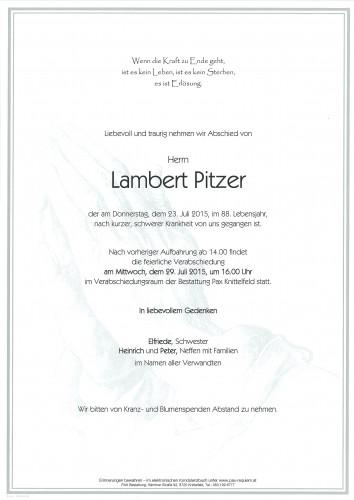 Lambert Pitzer