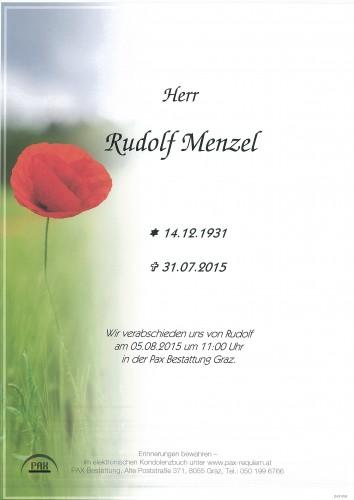 Rudolf Menzel