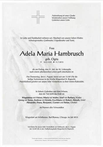 Adela Maria Hambrusch