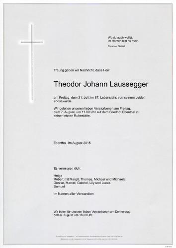 Theodor Johann Laussegger
