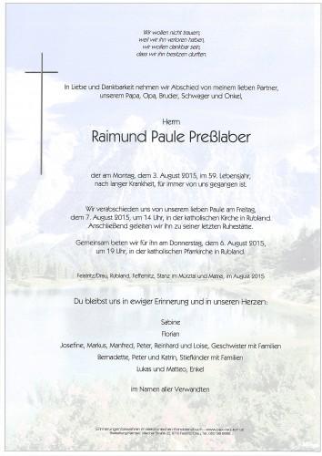 Raimund Paule Preßlaber
