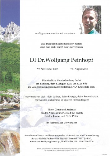 DI Dr. Wolfgang Peinhopf
