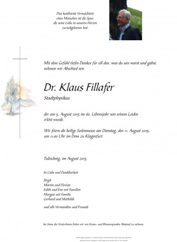 Dr. Klaus Fillafer