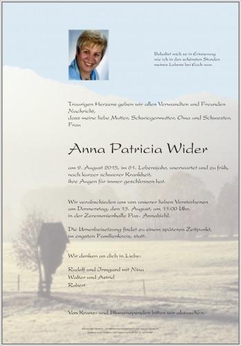 Anna Patricia Wider
