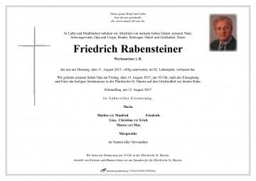Friedrich Rabensteiner