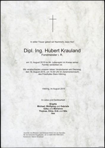 Dipl. Ing. Hubert Krauland
