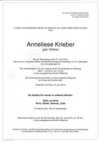 Anneliese Krieber