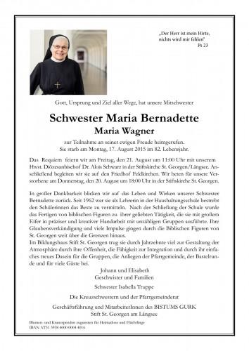 Sr. Maria Bernadette