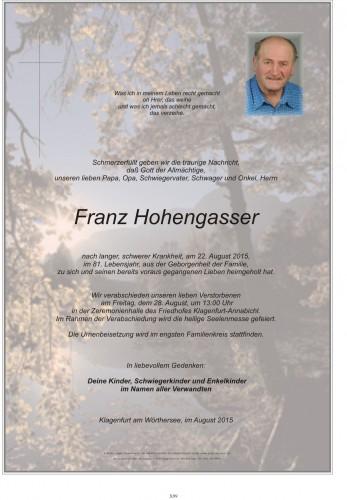 Franz Hohengasser