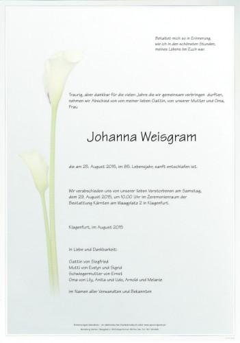 Johanna Weisgram