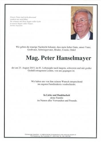 Mag. Hanselmayer Peter