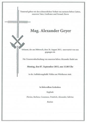 Mag. Alexander Geyer