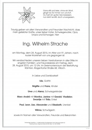 Ing. Wilhelm Strache