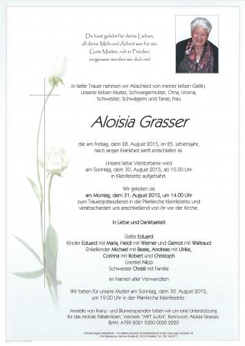 Aloisia Grasser