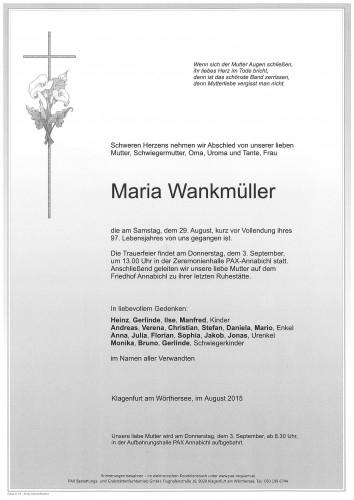 Maria Wankmüller