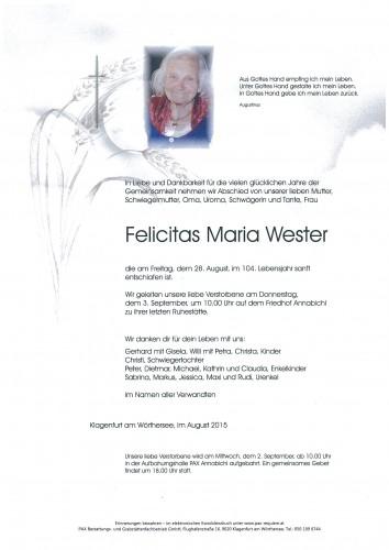 Felicitas Maria Wester