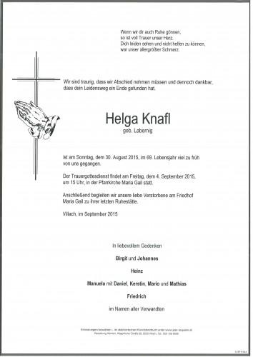 Helga Knafl geb. Labernig