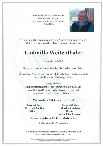 Ludmilla Weitenthaler