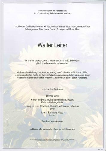 Walter Leiter