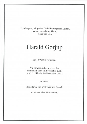 Gorjup Harald