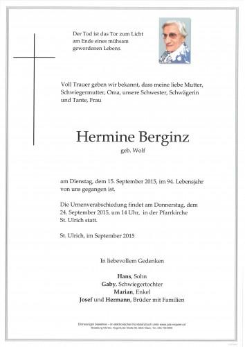 Hermine Berginz geb. Wolf