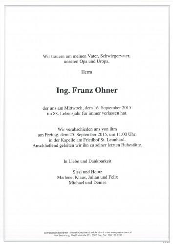 Ing. Franz Ohner