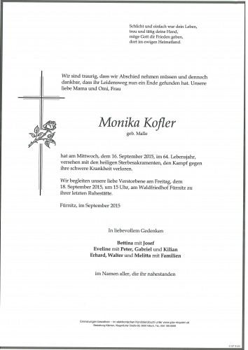 Monika Kofler geb. Malle