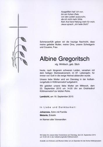 Albine Gregoritsch