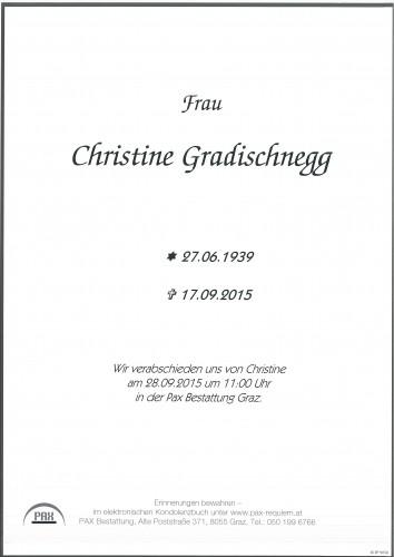 Christine Gradischnegg