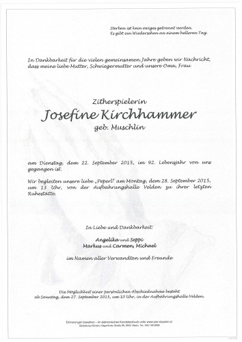 Josefine Kirchhammer