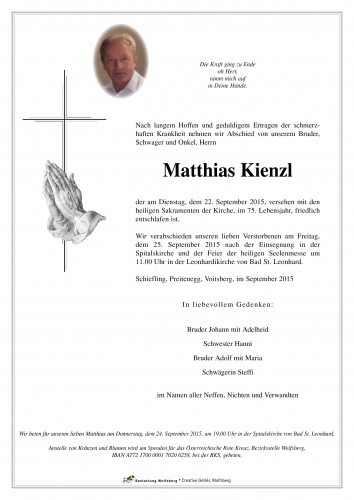 Matthias Kienzl