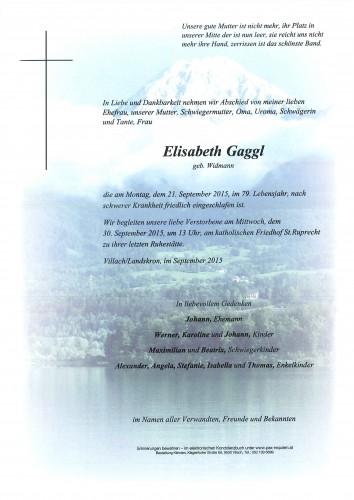 Elisabeth Gaggl geb. Widmann