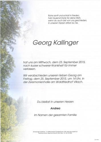 Georg Kallinger