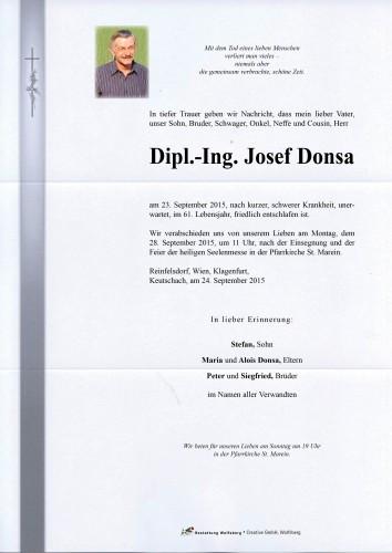 DI Josef Donsa