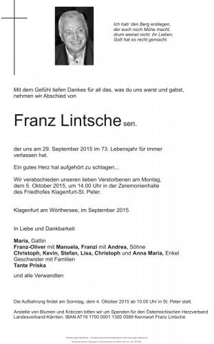 Franz Lintsche sen.