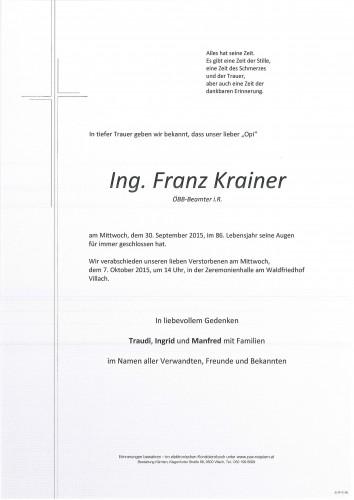 Ing. Franz Krainer