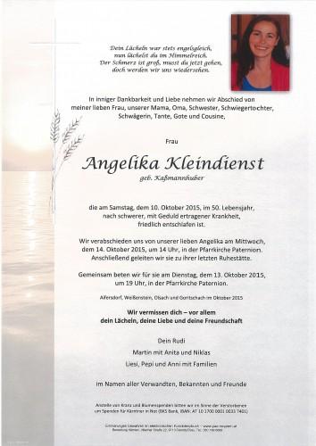 Angelika Kleindienst geb. Kaßmannhuber