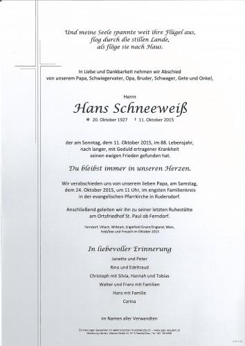 Hans Schneeweiß