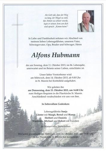 Alfons Hubmann