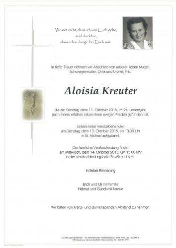 Aloisia Kreuter