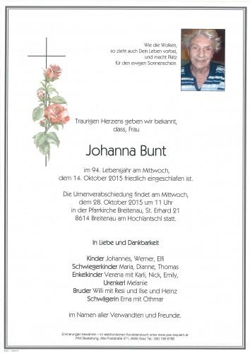 Johanna Bunt