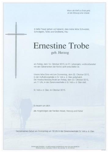 Ernestine Trobe  geb. Herzog