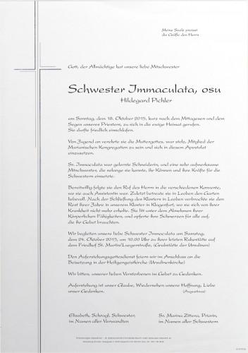 Hildegard Pichler Sr. Immaculata